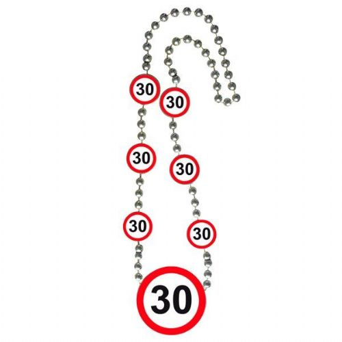 Traffic Sign 30th Party Necklace Birthday Novelty Gift Favor Favor